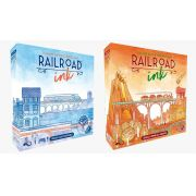 Rail Road Ink Azul Profundo + Vermelho Ardente Jogos de Dados Galapagos