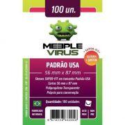 Shields Sleeves Padrão USA 56 X 87mm Meeple Virus 100 unidades