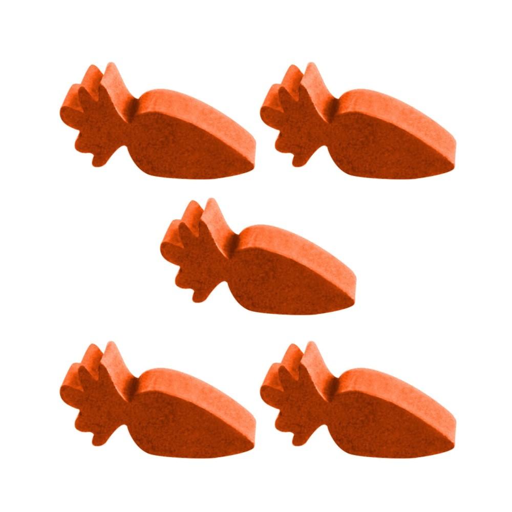 5 Meeples Alimentos Cenoura de madeira 20x9x6mm Laranja Acessório de Jogo Ludens Spirit  - Place Games