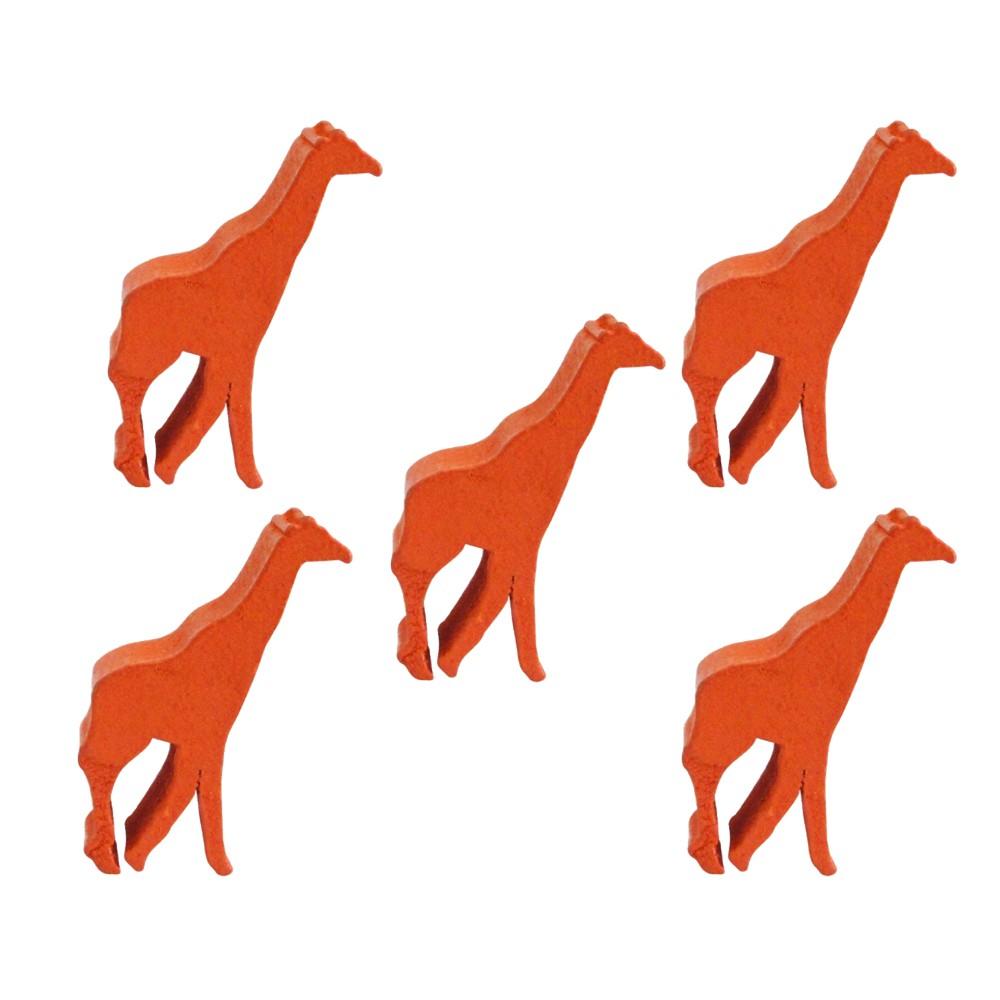5 Meeples Animais Girafa de madeira 23x35x9mm Laranja Acessório de Jogo Ludens Spirit  - Place Games
