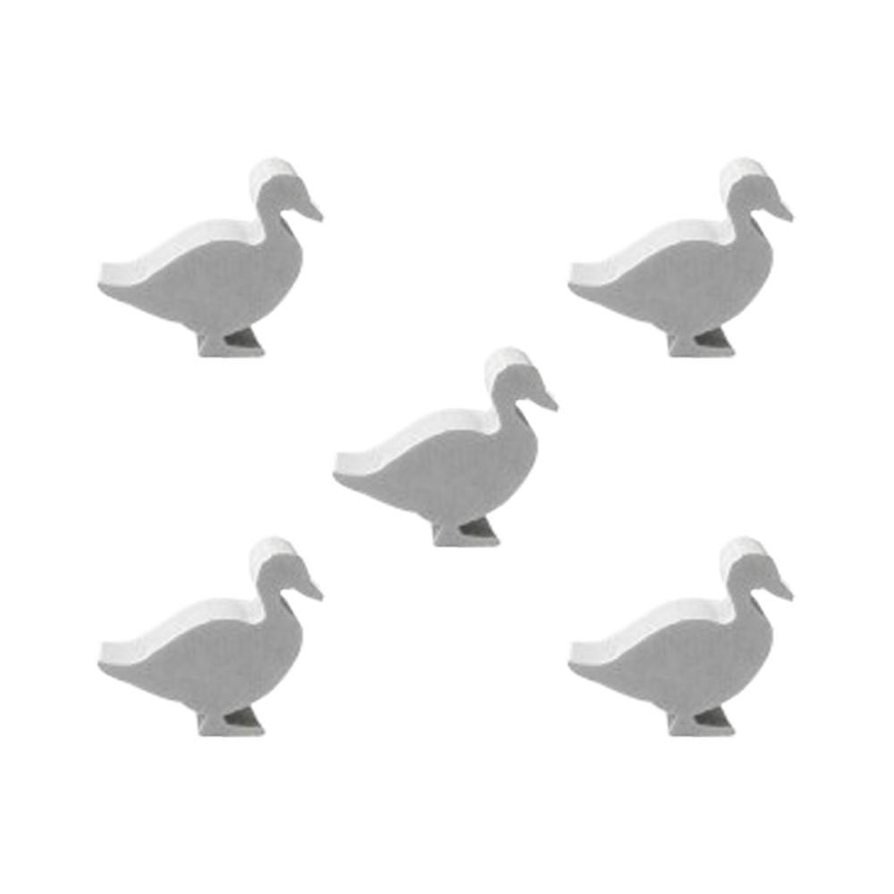 5 Meeples Animais Pato de madeira 20x18x9mm Branco Acessório de Jogo Ludens Spirit  - Place Games