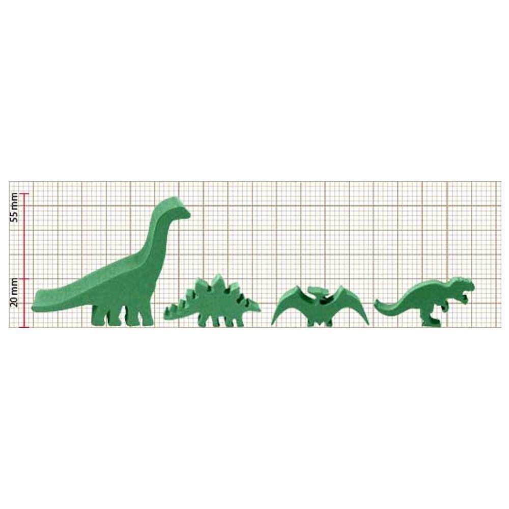 5 Meeples Dinossauros Estegossauro de madeira 33x18x9mm Marrom Acessório de Jogo Ludens Spirit  - Place Games