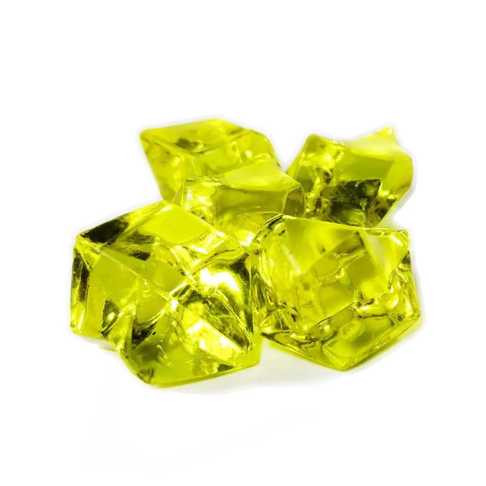 5 Pedras de Plastico Amarelo 25x20mm Acessório de Jogo Ludens Spirit PDPAM  - Place Games