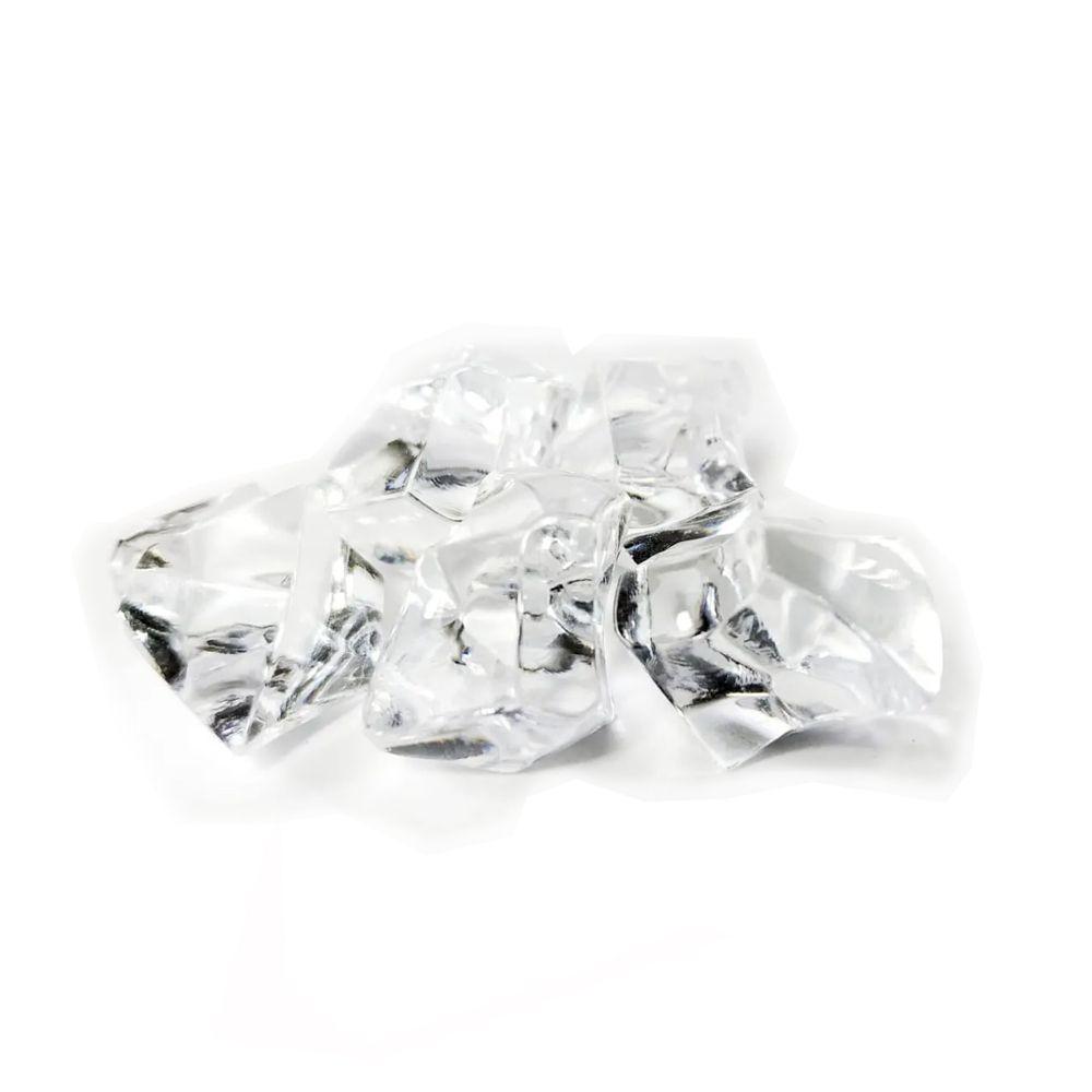 5 Pedras de Plastico Transparente 25x20mm Acessório de Jogo Ludens Spirit PDPTP  - Place Games
