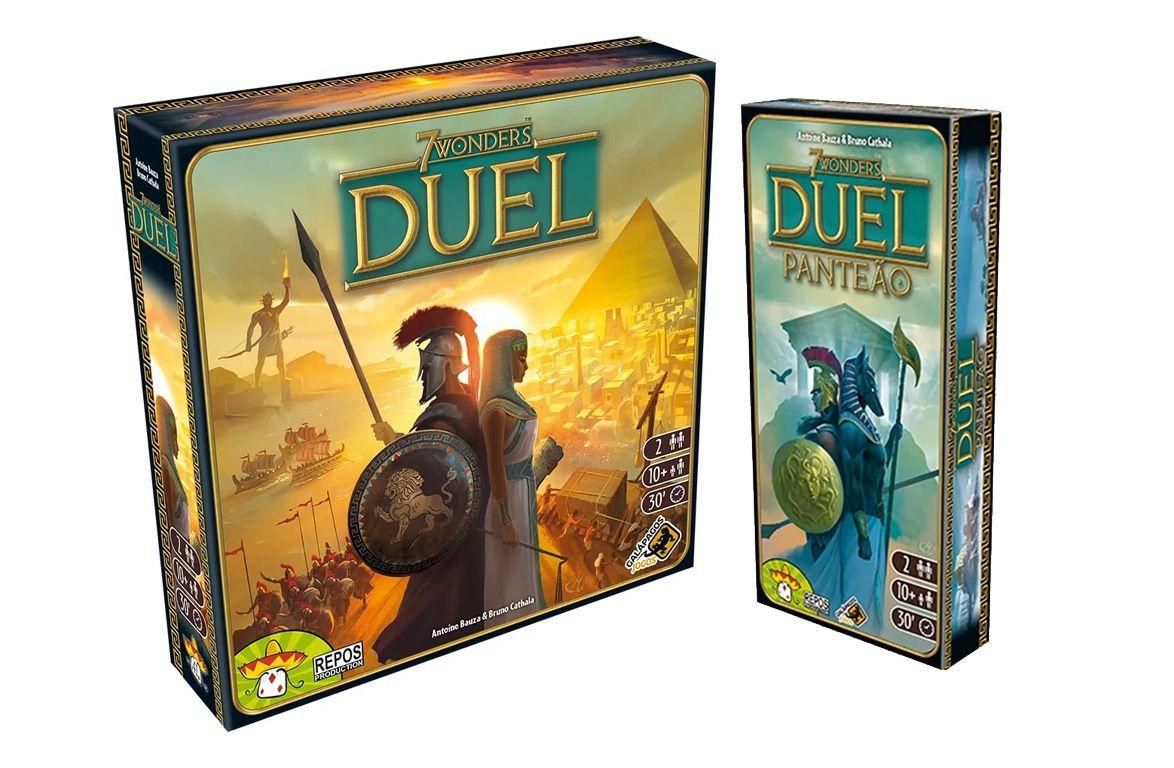 7 Wonders Duel + Expansão Panteão Jogo de Tabuleiro Galapagos 7WO101  - Place Games