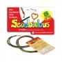Scoubidous 10 fios de 0,80cm em 8 cores diversas Ludens Spirit