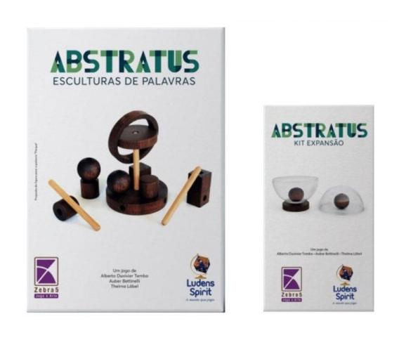 Abstratus Imbuia + Expansão de Jogo Abstrato Ludens Spirit JL0172  - Place Games