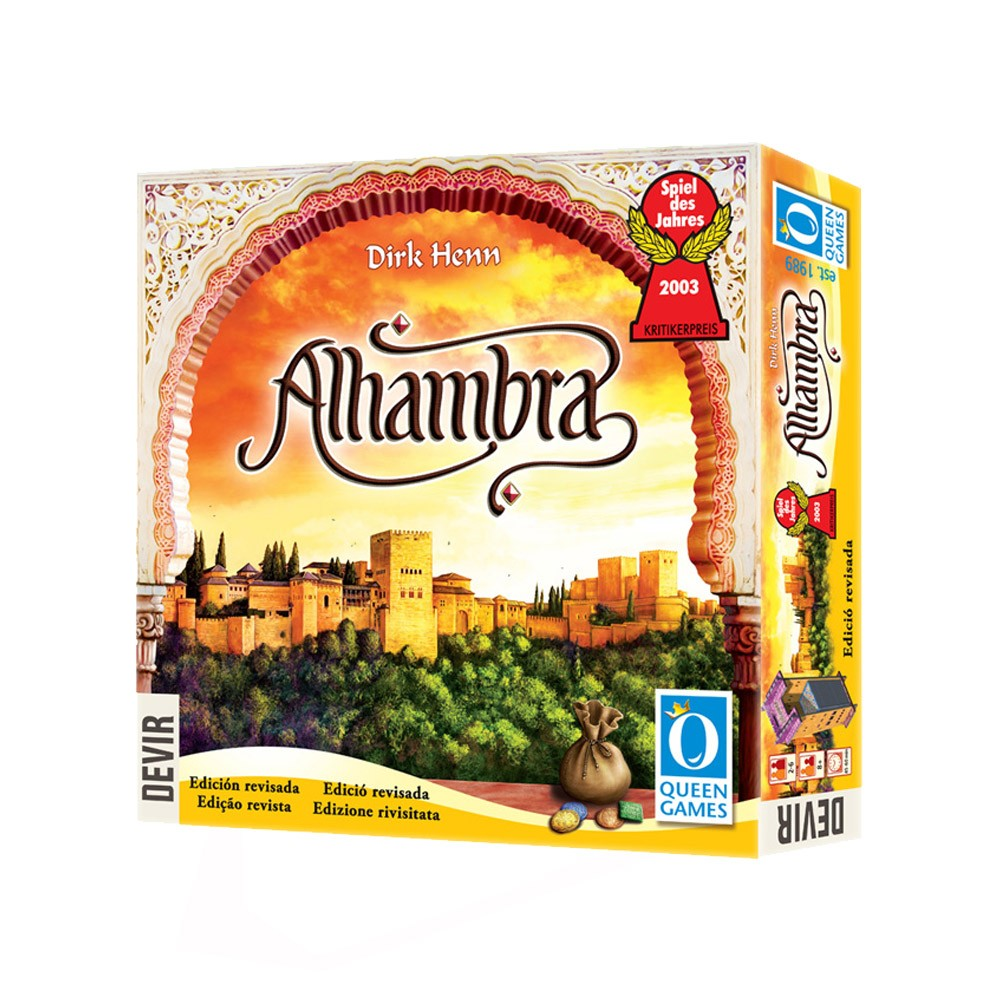 Alhambra Edição Revisada Jogo de Tabuleiro Devir BGALHA2  - Place Games