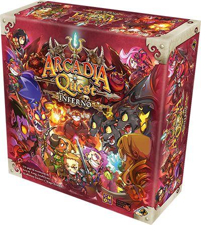 Arcadia Quest Inferno jogo de Tabuleiro Galapagos ARQ002  - Place Games