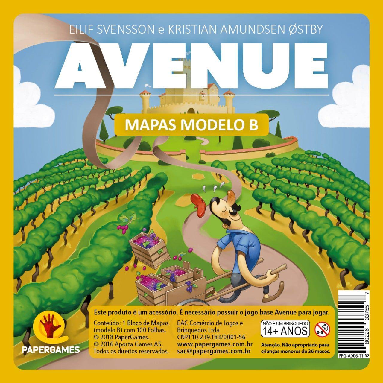 Avenue Expansão de jogo Bloco de Mapas Modelo B PaperGames A006  - Place Games