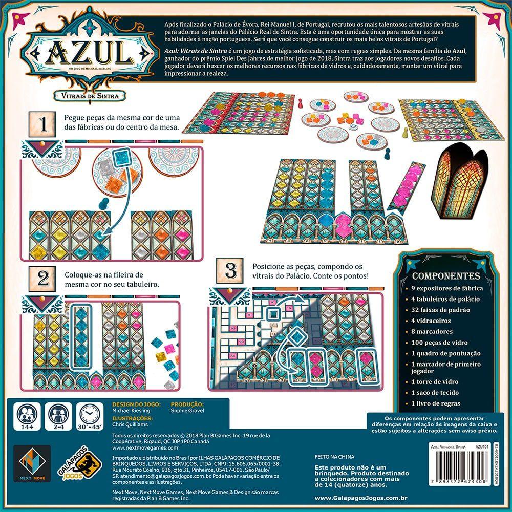 Azul Vitrais de Sintra  Jogo de Tabuleiro Galapagos AZU101  - Place Games