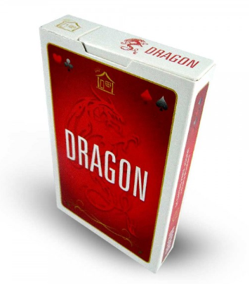 Baralho envernizado Vermelho 54 Cartas Dragon CBDVRM54  - Place Games