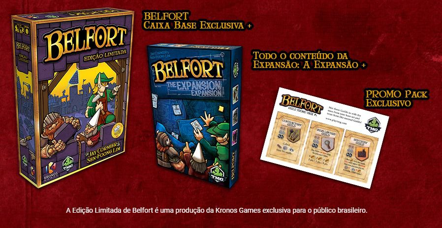 Belfort Edição Limitada Jogo de Tabuleiro Kronos Games  - Place Games
