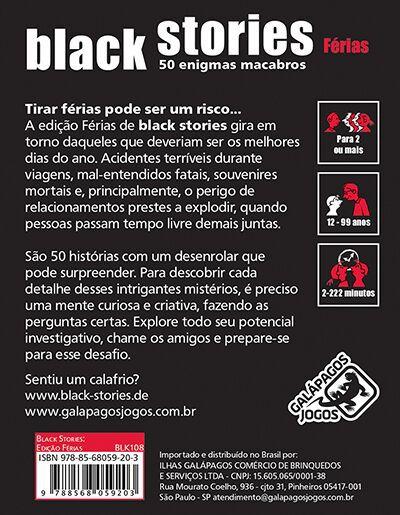 Black Stories Férias  Jogo de Cartas Galapagos BLK108  - Place Games