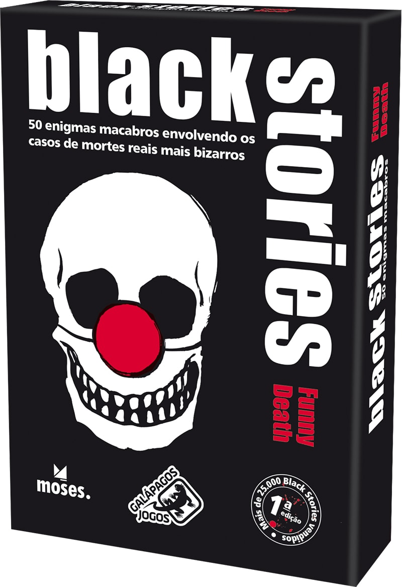 Black Stories Funny Death  Jogo de Cartas Galapagos BLK103  - Place Games