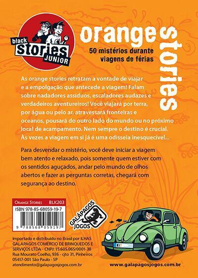 Black Stories Junior Orange Stories  Jogo de Cartas Galapagos BLK203  - Place Games