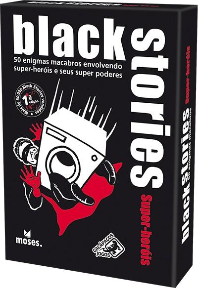 Black Stories Super-Heróis  Jogo de Cartas Galapagos BLK106  - Place Games