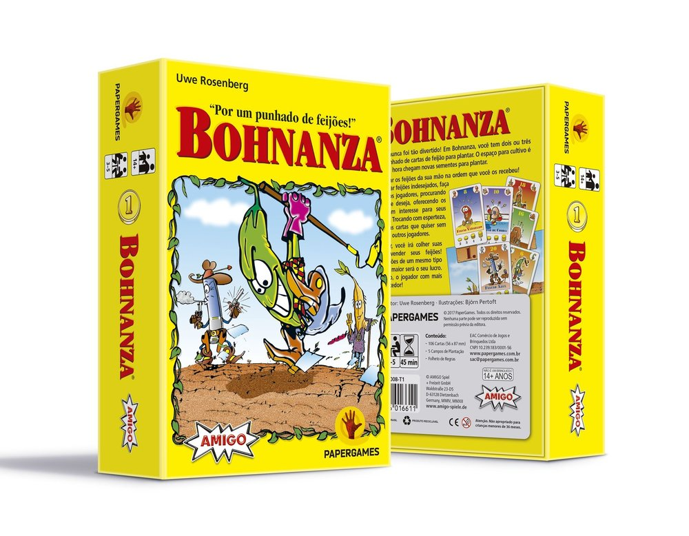 Bohnanza Jogo de Cartas PaperGames J008  - Place Games