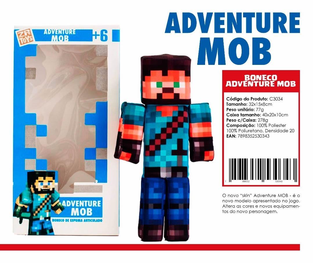 Boneco Adventure Mob ZR Toys C3034  - Place Games