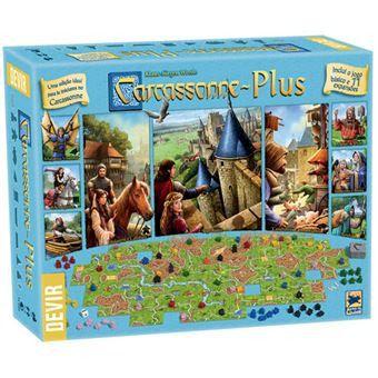 Carcassonne Plus Jogo Base + 11 expansões Devir  - Place Games