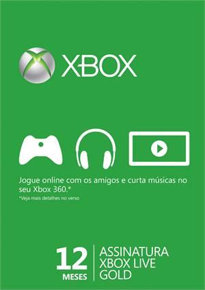 Cartão Da Live 12 Meses - Xbox 360 E One - Pronta Entrega  - Place Games