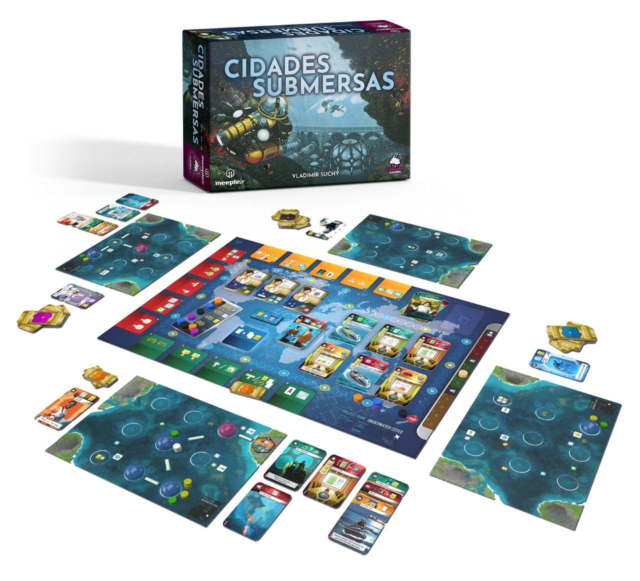 Cidades Submersas Jogo de Tabuleiro Meeple BR   - Place Games