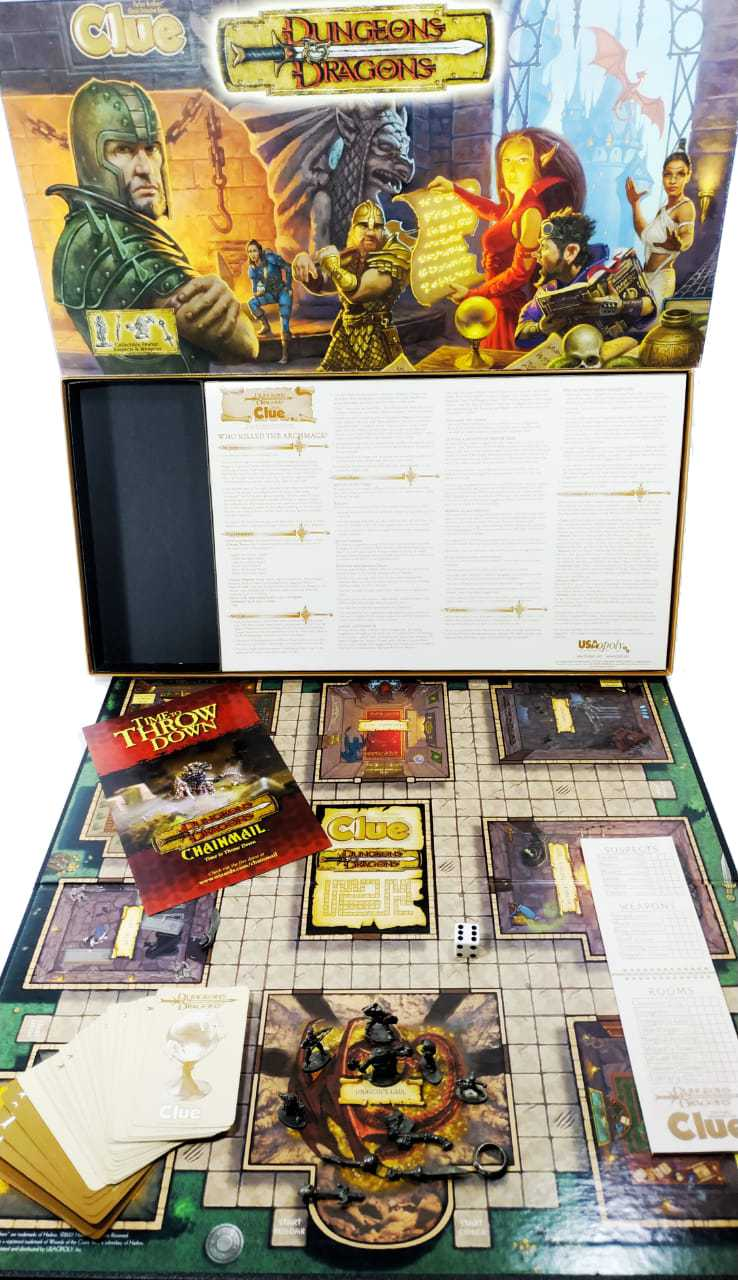 Clue Dungeons & Dragons Jogo de Tabuleiro Importado USAopoly  - Place Games