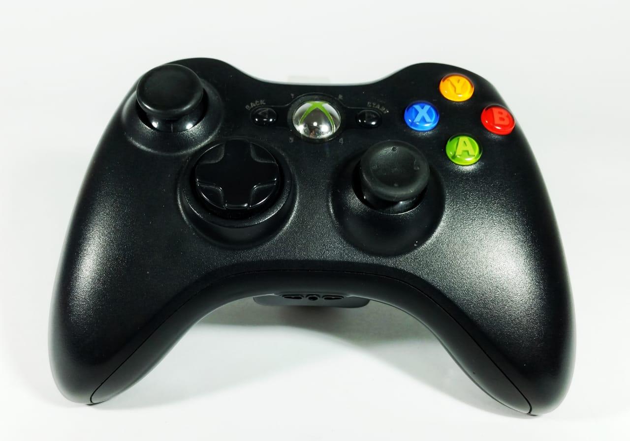 Controle XBOX 360 sem fio Preto Usado  - Place Games