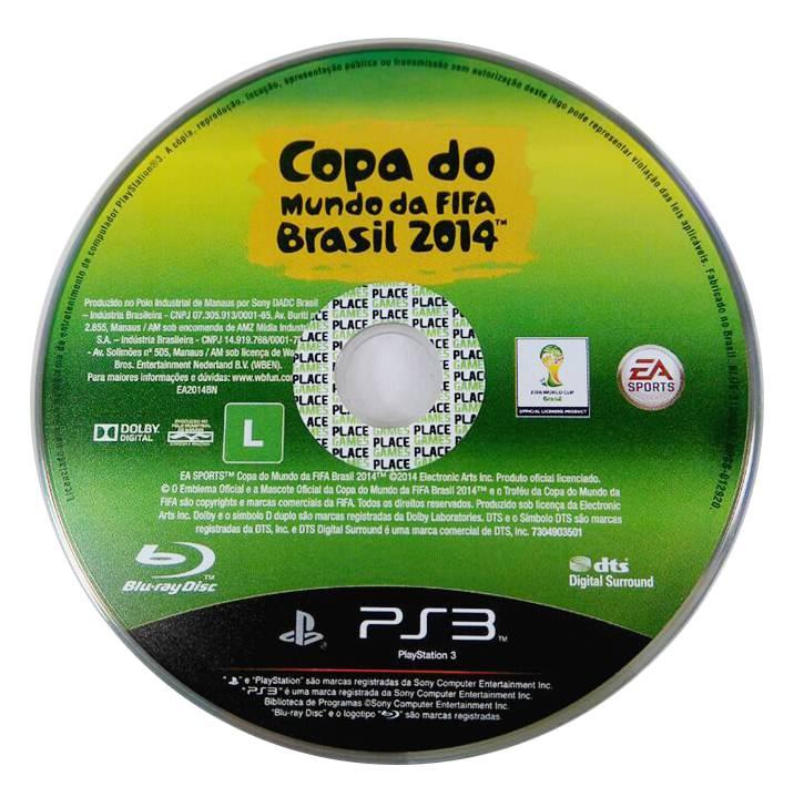 Copa do Mundo da Fifa Brasil 2014 só a mídia Playstation 3 Original Usado  - Place Games