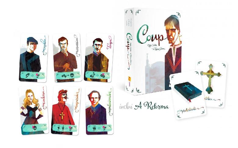 Coup + Expansões a Reforma e a Inquisição Jogo de Cartas Mandala  - Place Games