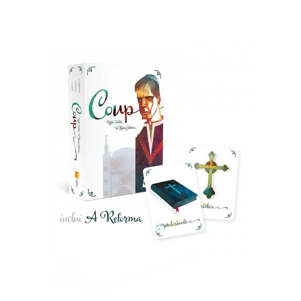 Coup Segunda edição + Expansão a Reforma Jogo de Cartas Mandala MDL0000  - Place Games