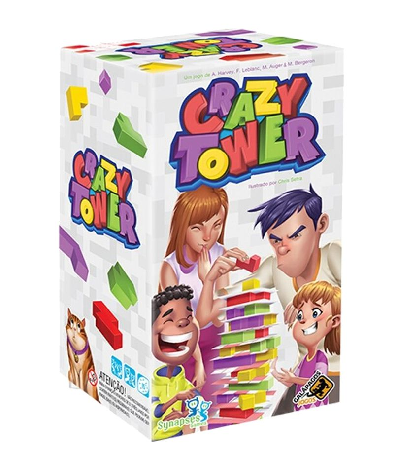 Crazy Tower Jogo Abstrato Galapagos CZT001  - Place Games
