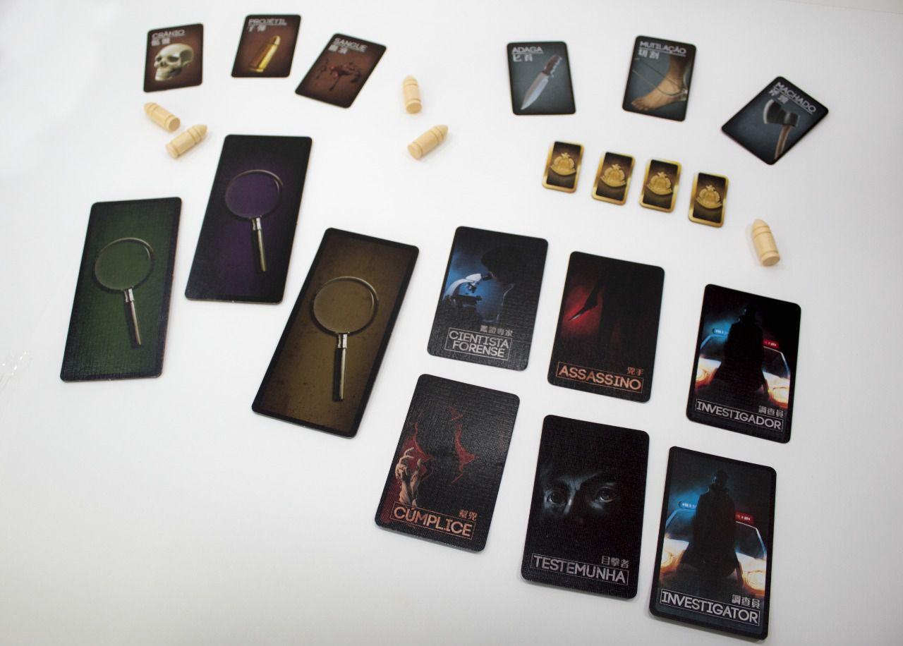 Deception Murder in Hong Kong Jogo de Tabuleiro Across the Board  - Place Games