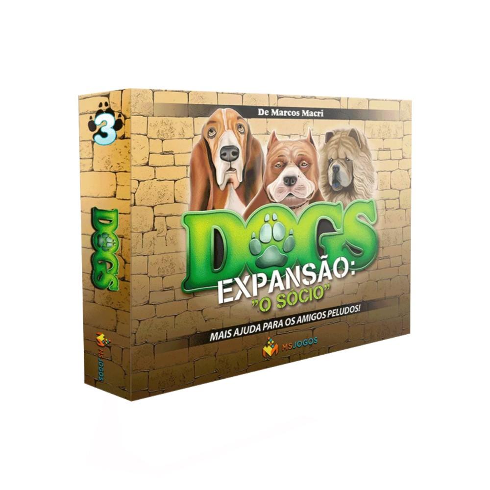 Dogs O Sócio Expansão de Jogo de Tabuleiro MS Jogos e Ludens Spirit JTR041  - Place Games