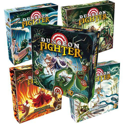 Dungeon Fighter + 4 Expansões Galapagos DUF001  - Place Games