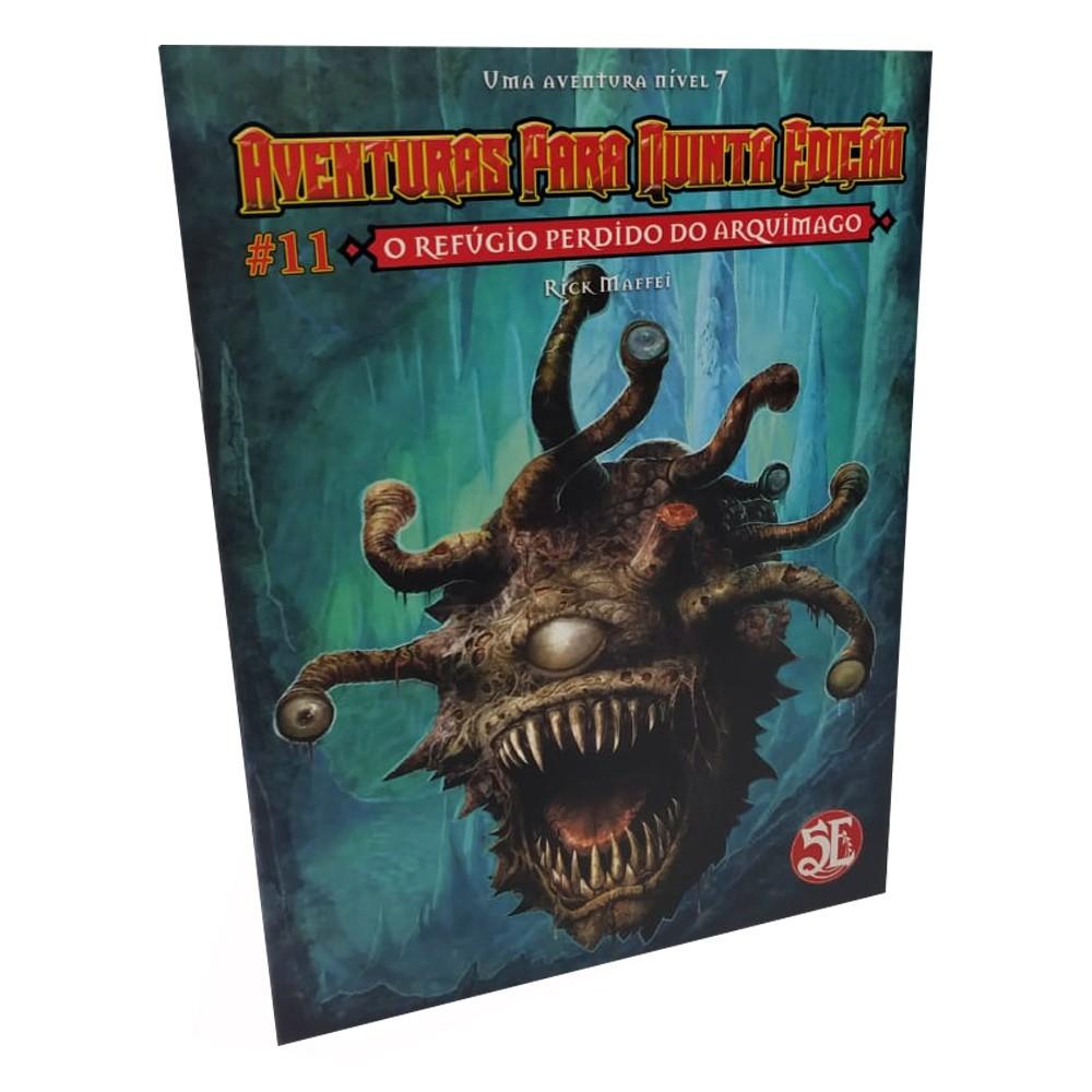Dungeons & Dragons Aventuras para 5a Edição N.11 O Refúgio Perdido do Arquimago em Portugues Galápagos AQE011  - Place Games