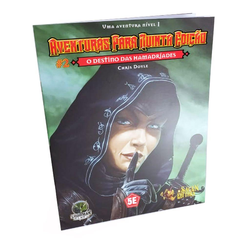 Dungeons & Dragons Aventuras para 5a Edição N.2 O Destino das Hamadríades em Portugues Galápagos FEF002  - Place Games