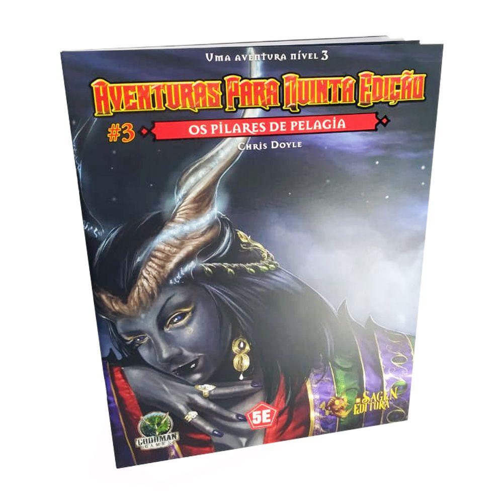Dungeons & Dragons Aventuras para 5a Edição N.3 Os Pilares de Pelagia em Portugues Galápagos FEF003  - Place Games