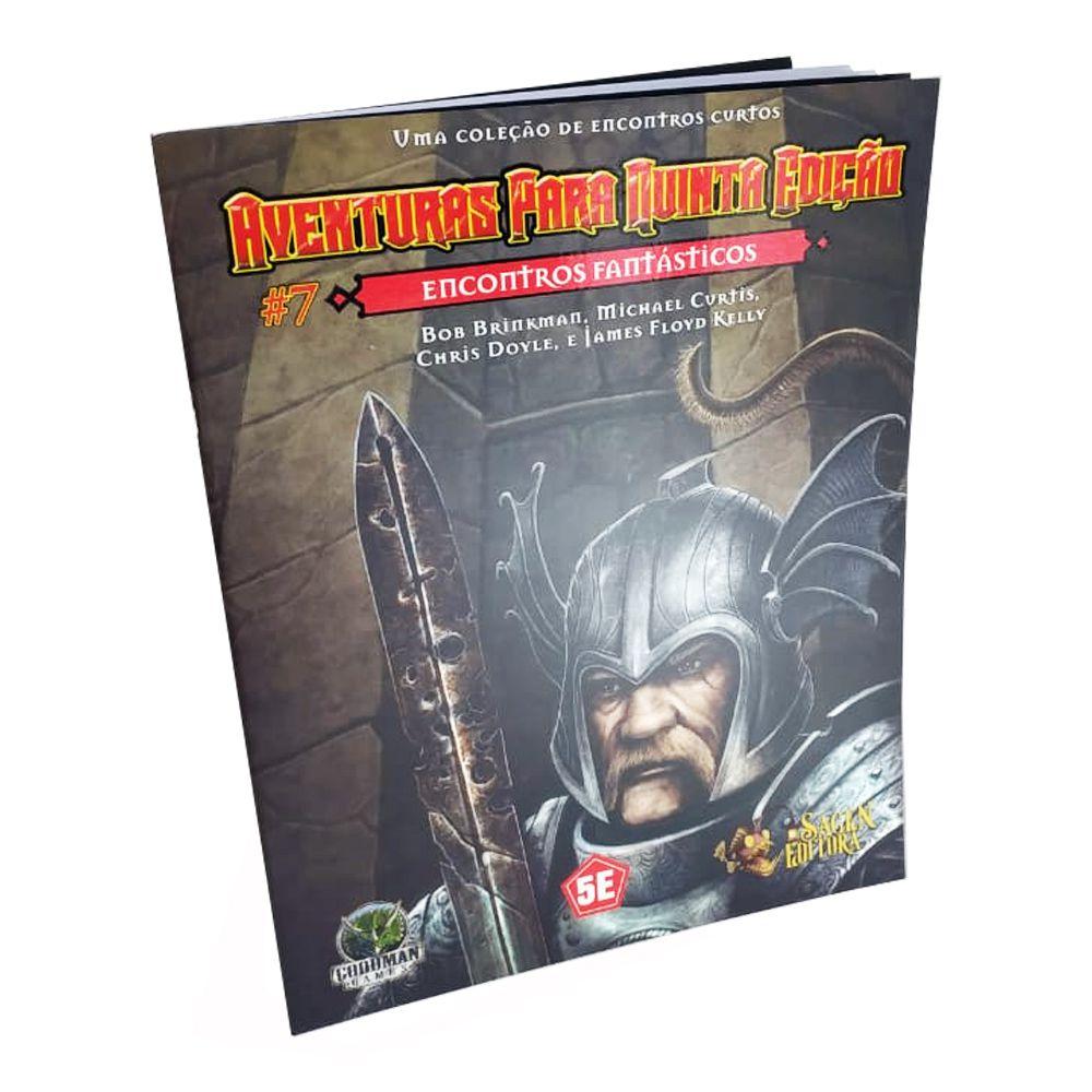 Dungeons & Dragons Aventuras para 5a Edição N.7 Encontros Fantásticos em Portugues Galápagos FEF006  - Place Games