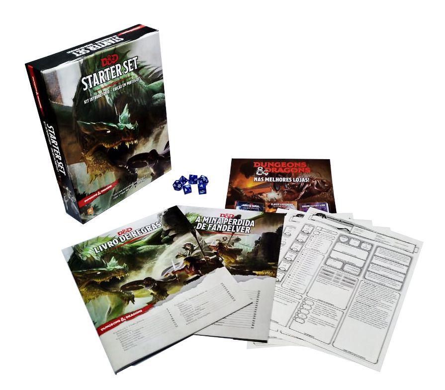 Dungeons & Dragons Starter Set Kit Introdutório em Portugues Galápagos DND004  - Place Games
