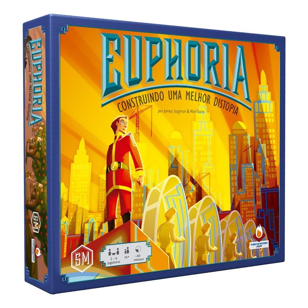 Euphoria Construindo uma Melhor Distopia Jogo de Tabuleiro Fire on Board FOBEUP  - Place Games