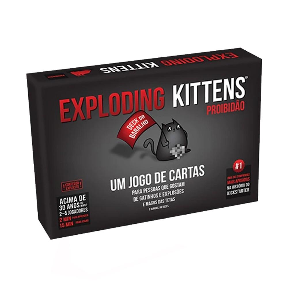 Exploding Kittens Proibidão Jogo de Cartas Galapagos EXK101  - Place Games