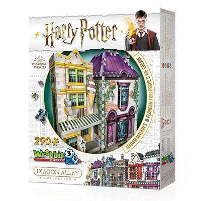 Harry Potter Madame Malkin e Sorveteria do Florean Fortescue Quebra-Cabeça 3D 290 peças Galapagos W3D010  - Place Games