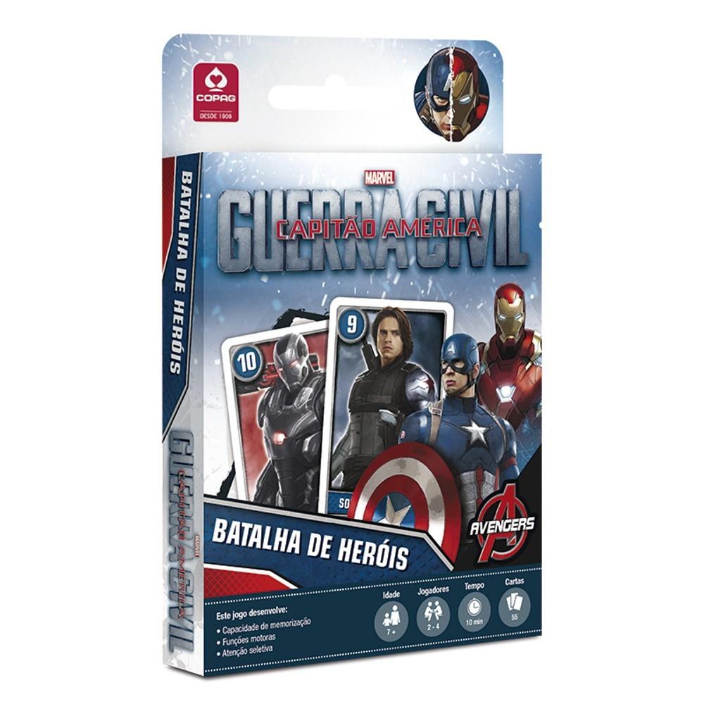 Jogo Capitão America Guerra Civil Batalha de Herois Copag 98217  - Place Games