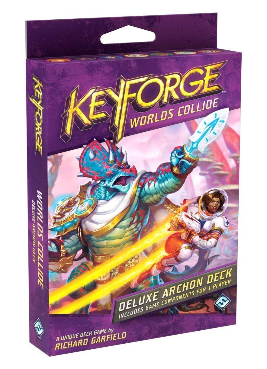 Keyforge Colisão entre Mundos Deluxe Archon Deck em ingles Jogo de Cartas Galapagos KFG703  - Place Games