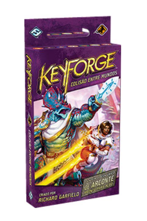 Keyforge Colisão entre Mundos Display 12 Decks em português Jogo de Cartas Galapagos KFG005  - Place Games