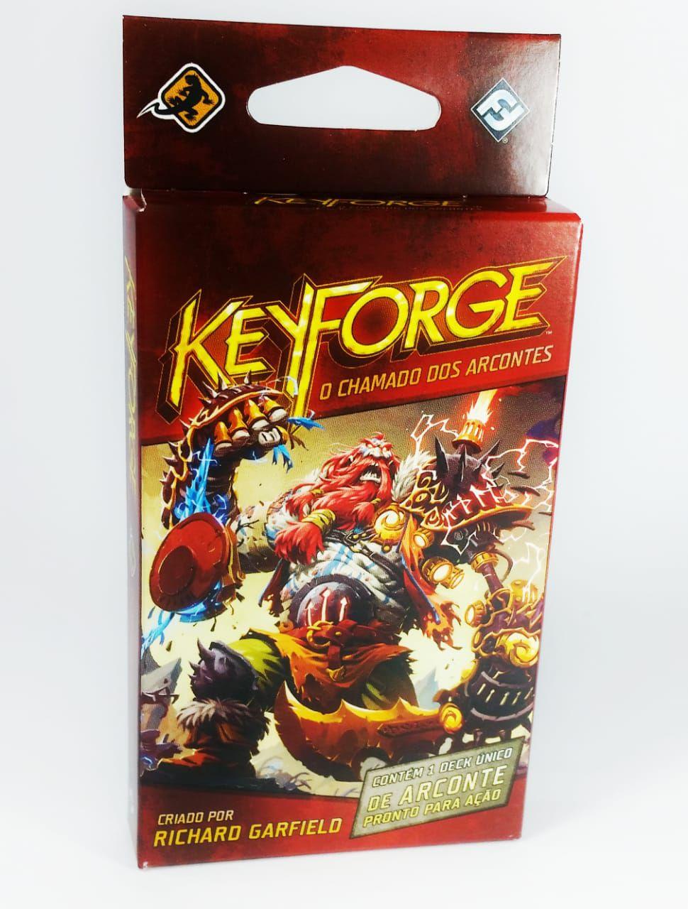 Keyforge O Chamado de Arcontes Deck Unico em português Jogo de Cartas Galapagos KFG002a  - Place Games