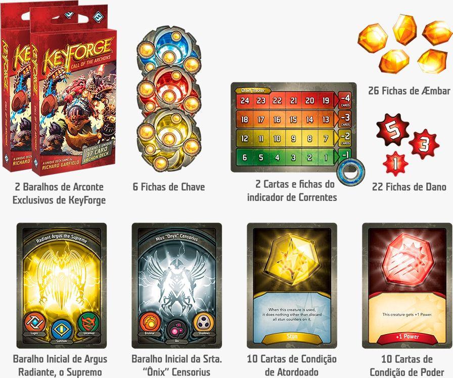 Keyforge O Chamado de Arcontes Starter Set em português Jogo de Cartas Galapagos KFG001  - Place Games