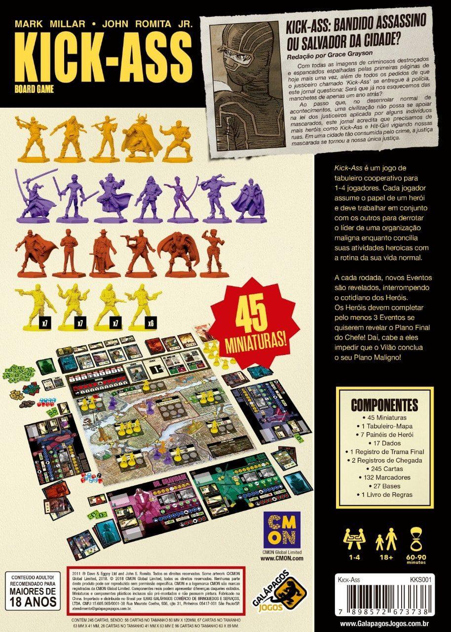 Kick Ass Jogo de Tabuleiro Galapagos KKS001  - Place Games