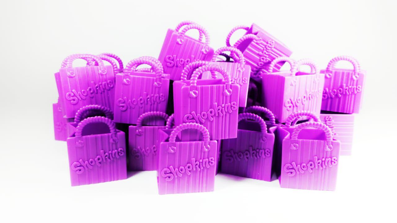 Kit com 100 sacolinhas de Shopkins Roxas  - Place Games